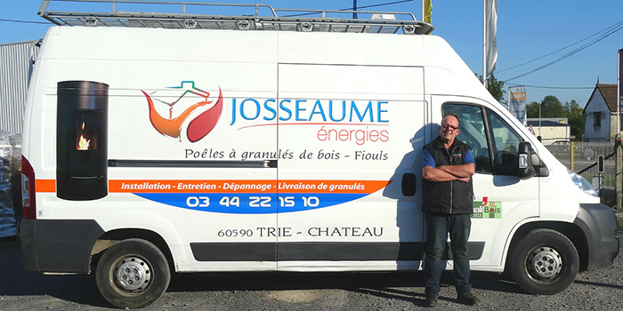 Christophe, chauffagiste, Josseaume Énergies