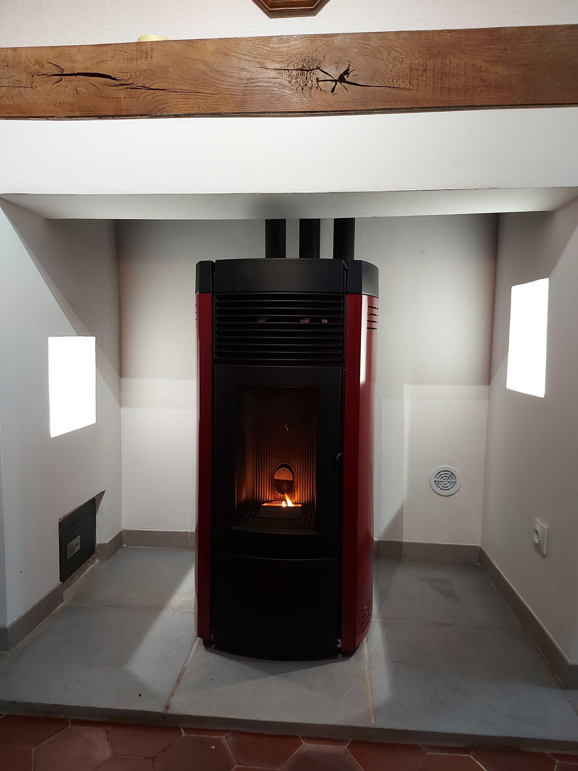 Installation d'un poêle à granulés MCZ, Espaubourg (60)
