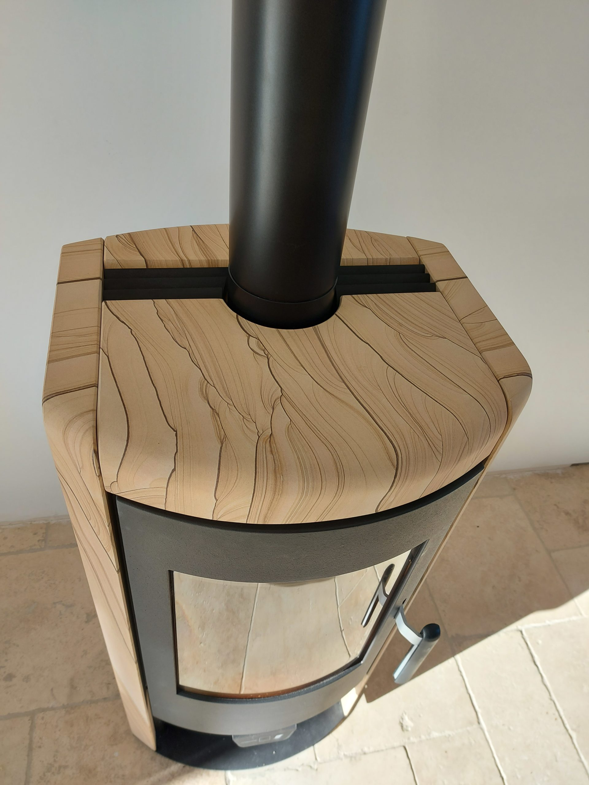 Installation d'un poêle à bois, Lalandelle (60)