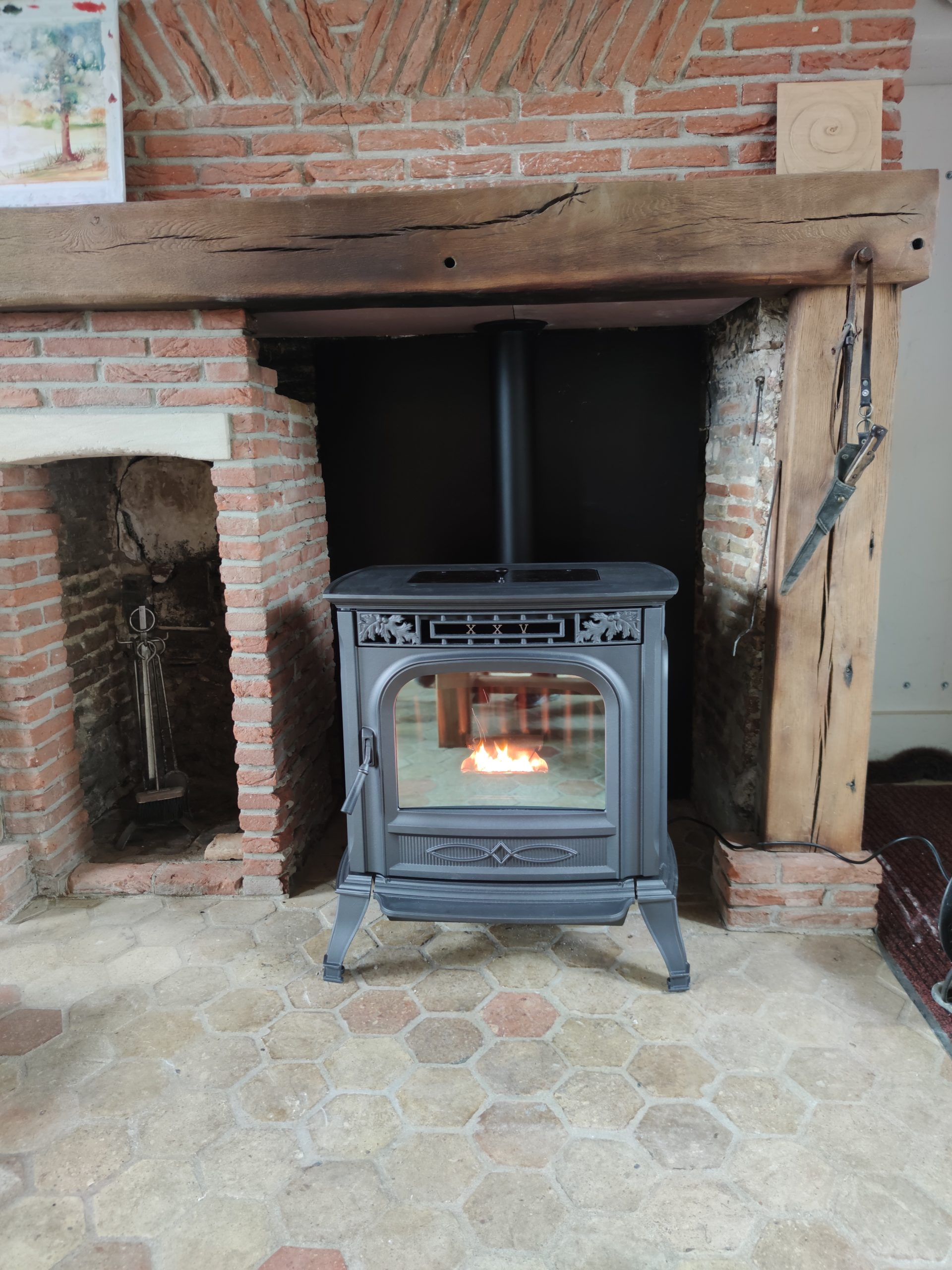 Installation d'un poêle à granulés, Bazincourt sur Epte (27)