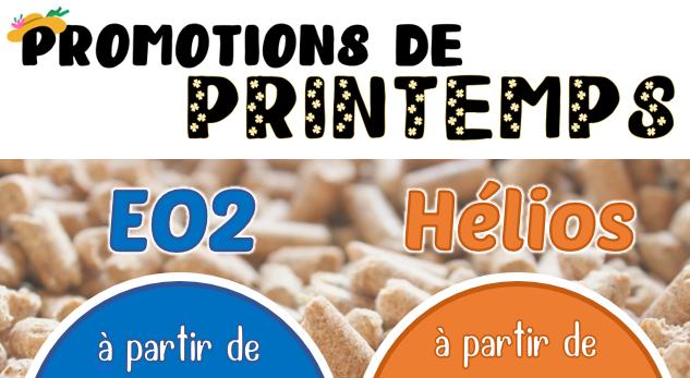 Promotions de Printemps - Granulés de Bois