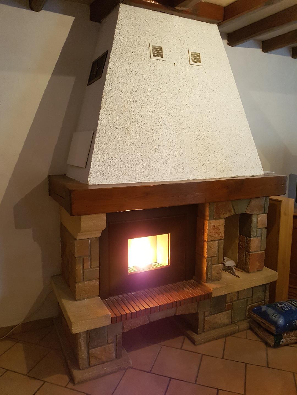 Installation d'un insert à granulés - Lormaison