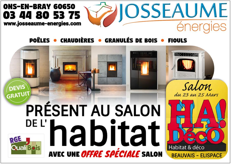 Retrouvez nous au salon de l 39 habitat 2018 beauvais lispace josseaume energies - Salon de l habitat beauvais ...