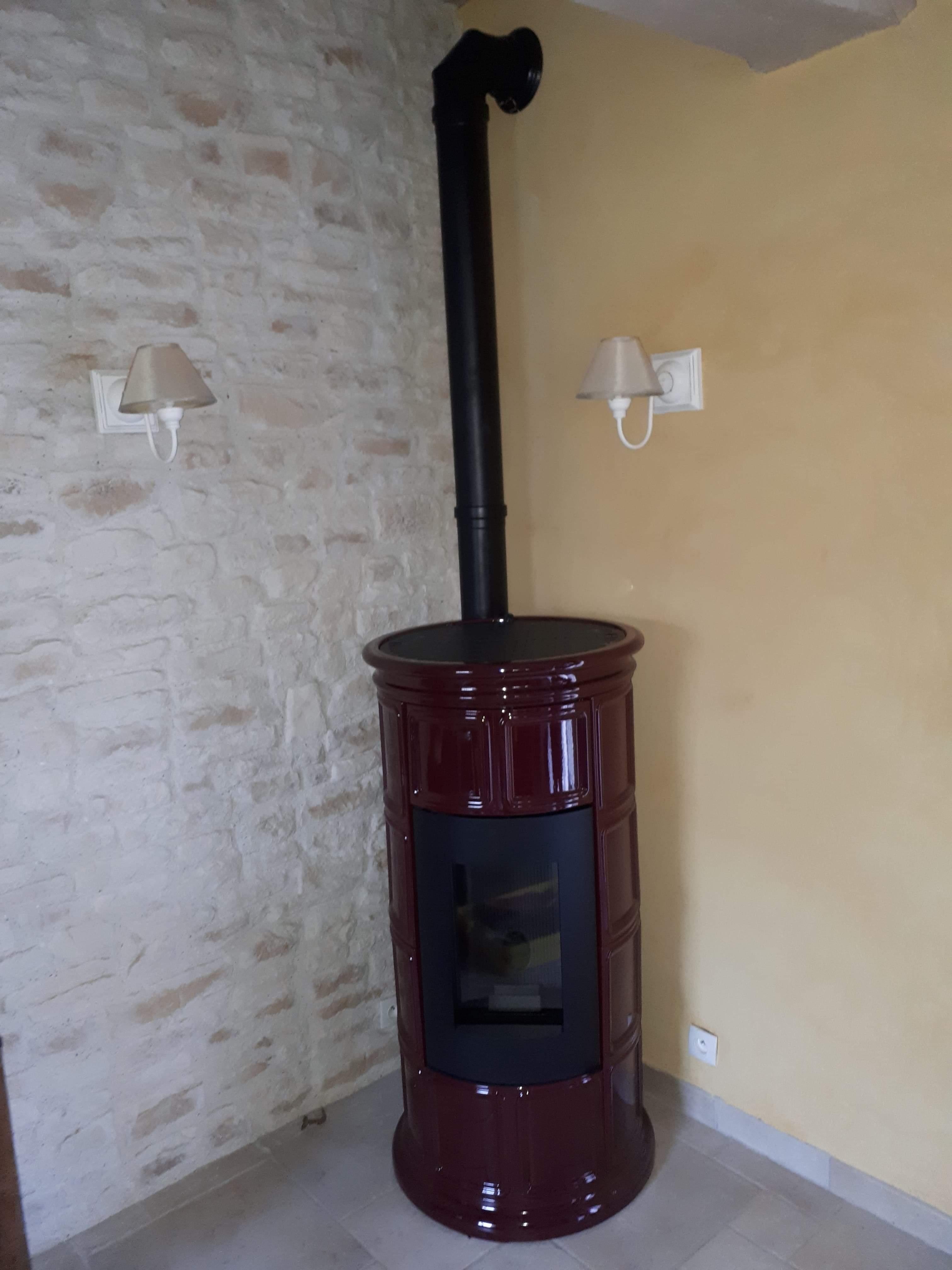 Installation d'un poêle à granulés, Gasny (27)